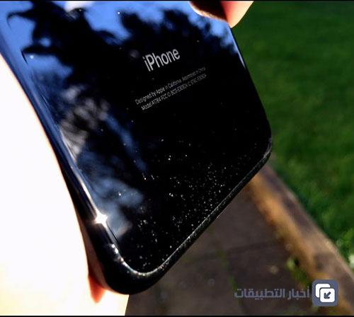 آيفون 7 الأسود اللامع سهل الخدش