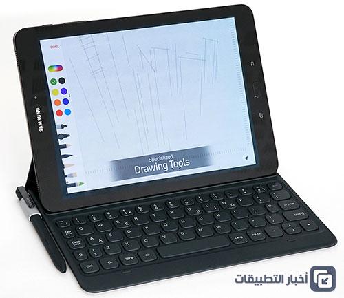 Samsung Galaxy Tab S3 - لوحة المفاتيح