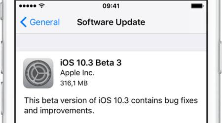 آبل تطلق النسخة التجريبية الثالثة من iOS 10.3 - تعرفوا على الجديد ؟