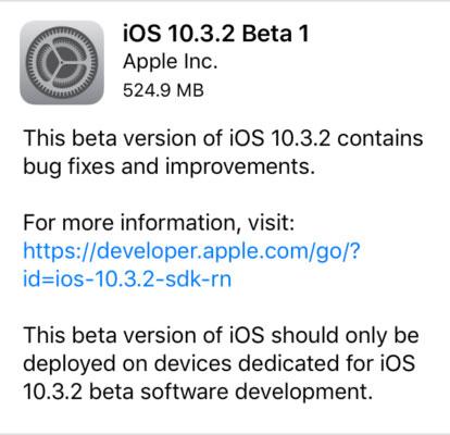 مرة أخرى – آبل تطلق الإصدار iOS 10.3.2 للمطورين – ما هو الجديد ؟