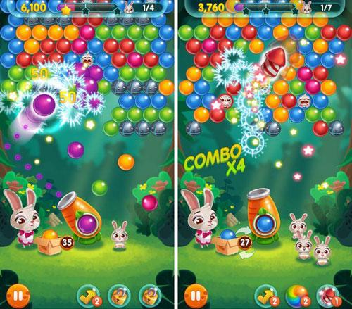 لعبة Bunny Pop! للأطفال والكبار من محبي الألوان