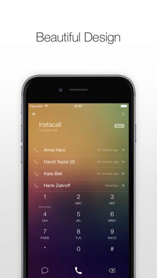 تطبيق Instacall برنامج هاتف مميز بتصميم رائع