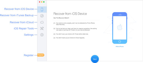 برنامج Primo iPhone Data Recovery لاسترجاع الملفات المحذوفة في الأيفون والآيباد