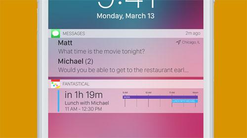إشعارات iOS 11