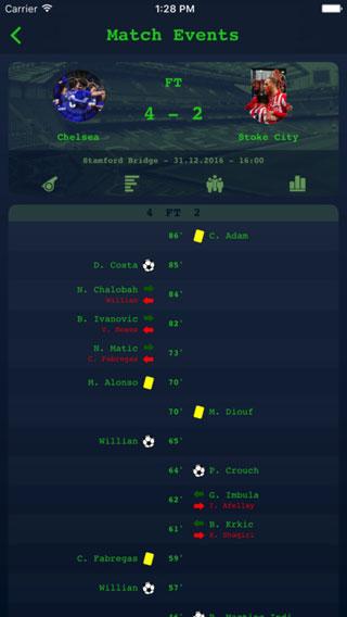 تطبيق Live Matches لعشاق الدوري الإنجليزي الممتاز لكرة القدم - مجانا