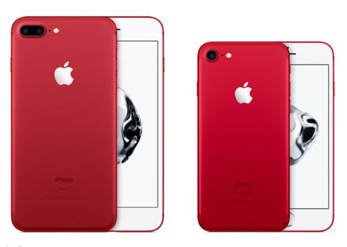 ايفون 7 باللون الاحمر