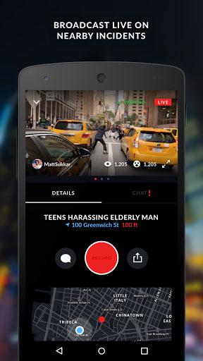 تطبيق Citizen لمتابعة أي أحداث خطيرة قريبة منك أو بثها