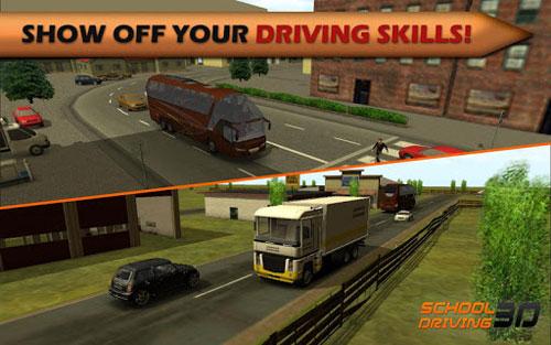 لعبة School Driving 3D لتعليم القيادة باحترافية