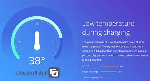 تقنية Super mCharge : شحن سريع ، حرارة أقل !