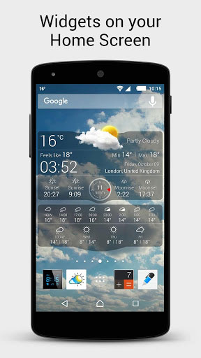 تطبيق Weather live لعرض حالة الطقس بمزايا كثيرة