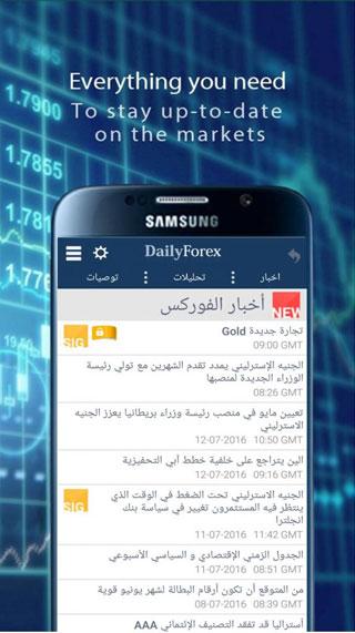 تطبيق DailyForex لمتابعة الأخبار الاقتصادية على الأيفون والأندرويد