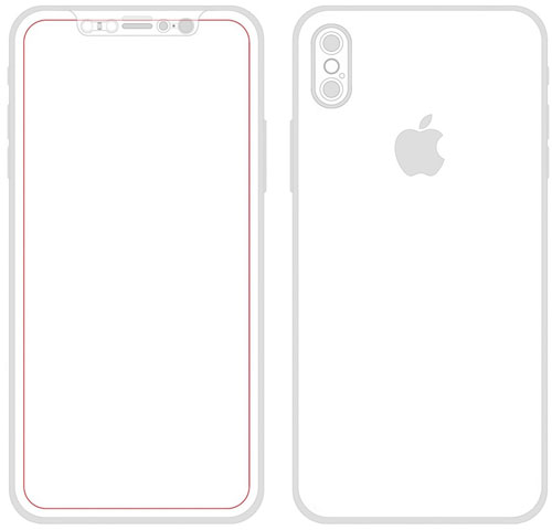 صورة توضيحية لجهاز iPhone 8