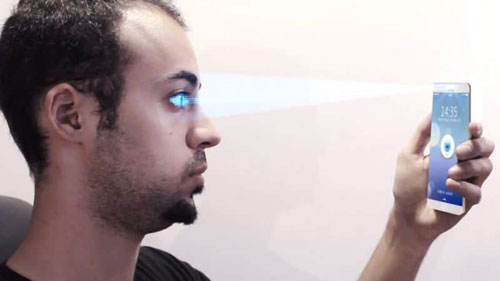 دعم تقنية Iris أو التعرف على بصمة العين