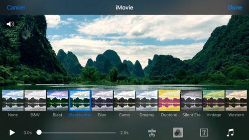 تطبيق تحرير ومونتاج الفيديو iMovie