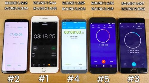 اختبارات الأداء : آيفون 7 لازال متفوقاً على الجميع حتى جالكسي اس 8 - شاهد النتائج !
