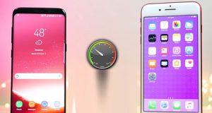 فيديو - اختبار السرعة بين ايفون 7 بلس ضد جالاكسي S8 - أيهما أسرع ؟