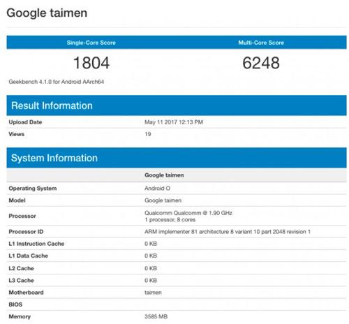 رصد هاتف جديد قادم من شركة جوجل بمعالج Snapdragon 835