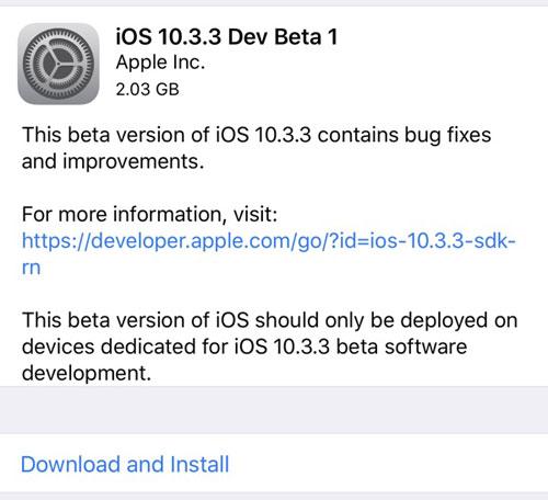 من جديد - آبل تطلق الإصدار التجريبي iOS 10.3.3 وهو قادم قريبا