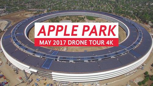 اقتراب انتهاء الأشغال على على Apple Park مقر آبل الجديد !