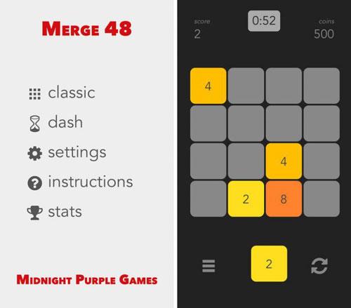 لعبة Merge 48 لمحبي الألغاز الرياضية