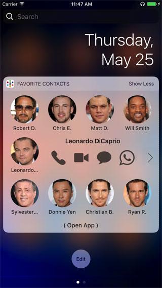 تطبيق Favorite Contacts للوصول السريع لجهات الاتصال المفضلة