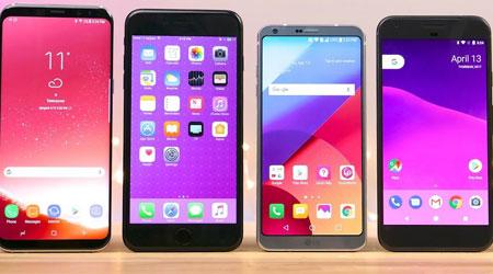 اختبار السرعة - الأيفون 7 ضد جالاكسي S8 وأقوى الهواتف الأخرى !