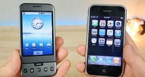 مقارنة ما بين أول أيفون وأول جهاز أندرويد !