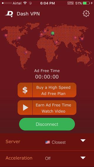 تطبيق Dash VPN - اضمن حماية نفسك وتجول بكل حرية وأمان في الشبكة