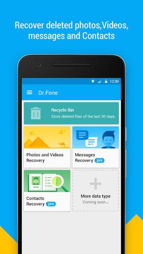 تطبيق Dr.Fone لاسترجاع الملفات المحذوفة من الأندرويد