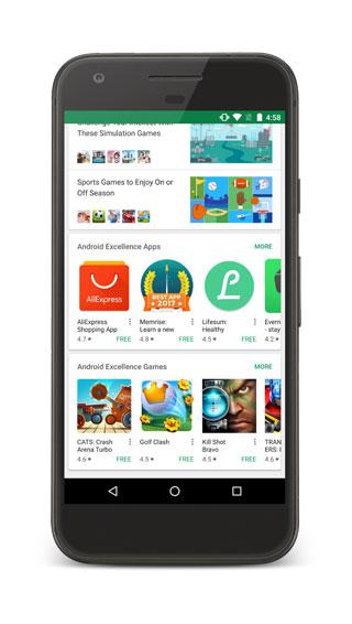 جوجل تسهل عليكم الوصول إلى التطبيقات المميزة في متجر التطبيقات