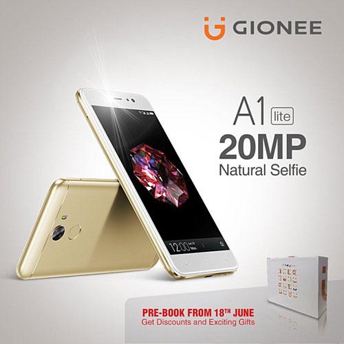 شركة Gionee تعلن عن هاتف A1 lite بكاميرا أمامية 20 ميجابيكسل