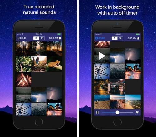 تطبيق Sleep Sounds للحصول على الاسترخاء ونوم هادئ