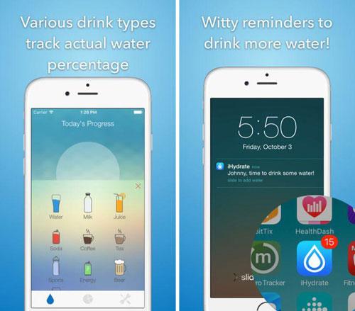تطبيق iHydrate لمتابعة شرب كمية الماء المناسبة يوميا