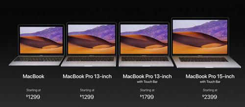 أسعار أجهزة MacBook 2017