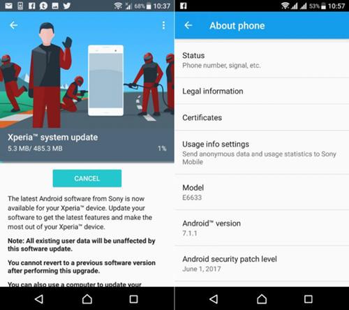 سوني تبدأ في إطلاق تحديث Android 7.1.1 لعدد من أجهزتها!