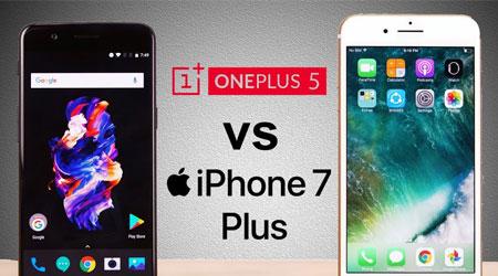 صورة فيديو – اختبار السرعة بين OnePlus 5 والأيفون 7 بلس – أيهما أسرع ؟