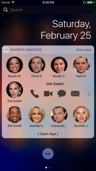 تطبيق Favourite Contacts - للوصول السريع إلى جهات الاتصال المفضلة