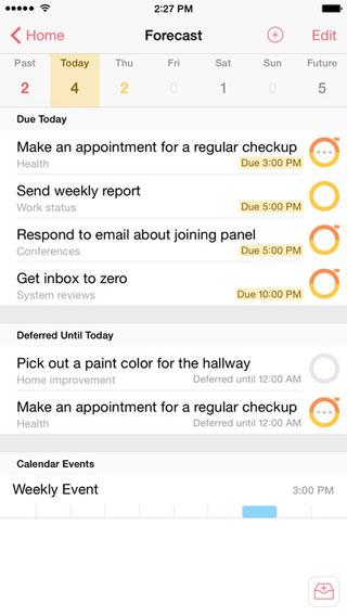 تطبيق OmniFocus 2 لإدارة المهام