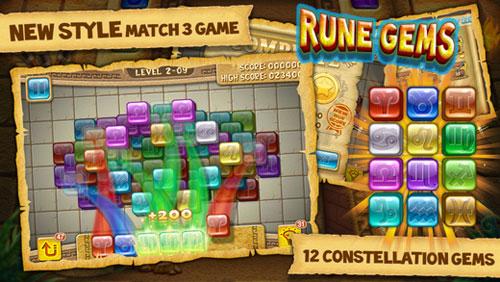 لعبة Rune Gems لمحبي ألغاز الألوان