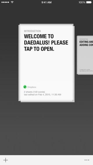 تطبيق Daedalus Touch لتسجيل الملاحظات