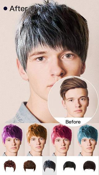 تطبيق Insta Hair Style لتعديل تسريحة الشعر وألوانه