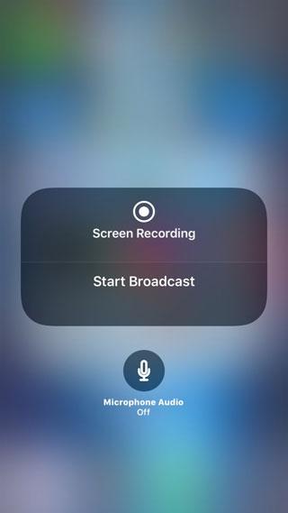 تسجيل الشاشة في iOS 11