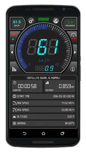 تطبيق GPS Speed Pro لقياس السرعة وتفاصيل موقعك