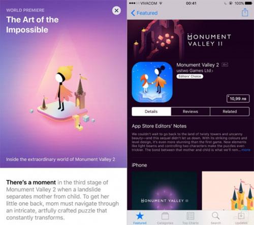 عرض صفحة التطبيقات في متجر الأبستور في iOS 11