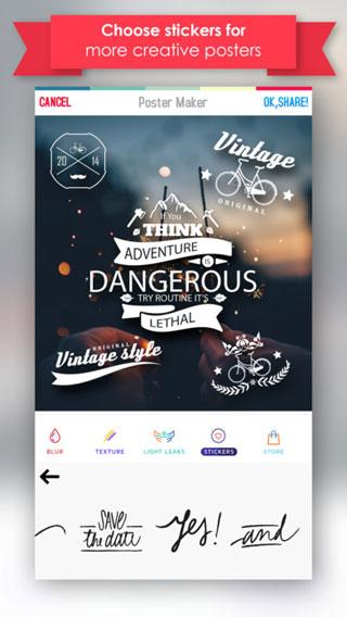تطبيق Poster Maker لتصميم الشعارات والبطاقات ومختلف التصاميم !