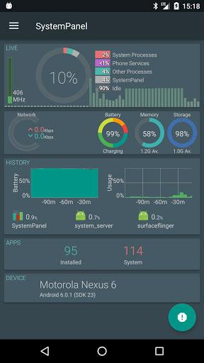 تطبيق SystemPanel 2 يساعدك على إدارة نظام جهازك