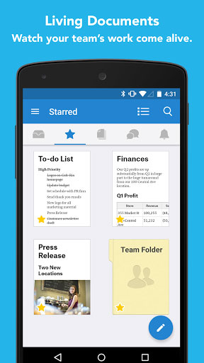 تطبيق Quip لإدارة المستندات ضمن فريق عمل