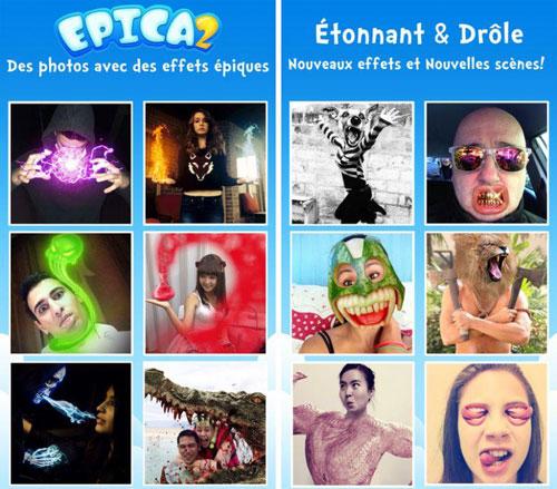 تطبيق Epica 2 Pro لإضافة مؤثرات غريبة على الصور