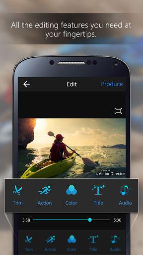 تطبيق ActionDirector لتحرير الفيديو بكثير من المزايا