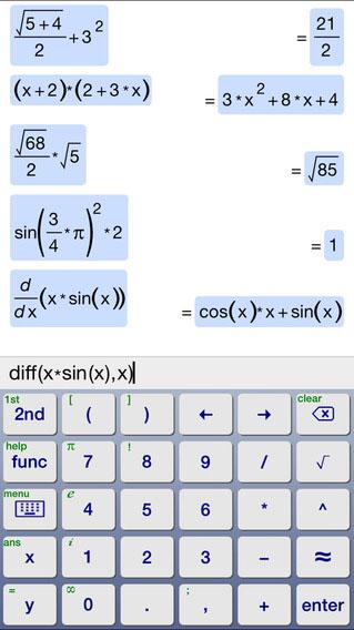 تطبيق Symbolic Calculator حاسبة في الرياضيات